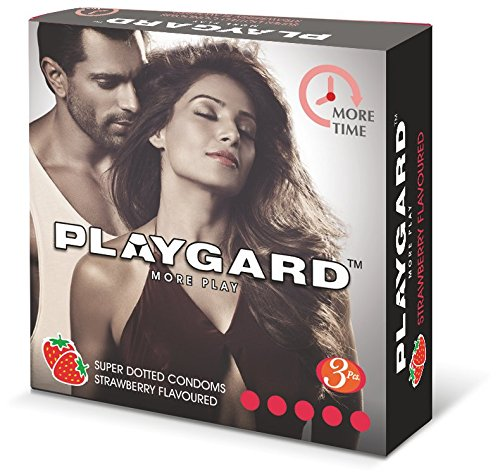 PLAYGARD More Time Superdotted Condoms Strawberry (Pack of 03 Each x 10 Boxes = Total 30 Pieces)