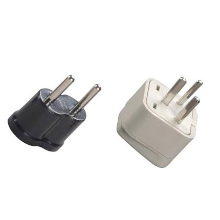 Israel grounded and nongrounded adapter plug