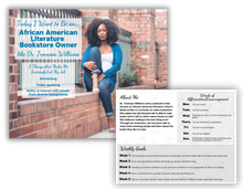 Load image into Gallery viewer, career exploration flash card of a black african American woman with her job title