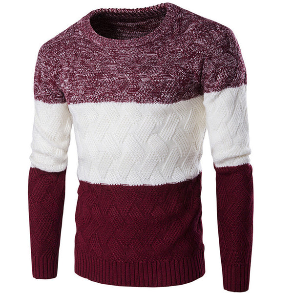 Comfortably Collared Men's Perfect Slim Fit O-Neck Sweater