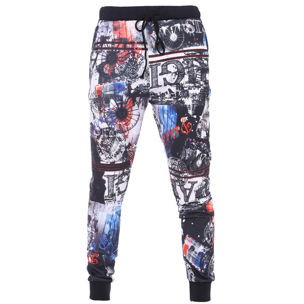 Men's Color Printing Sports Pants