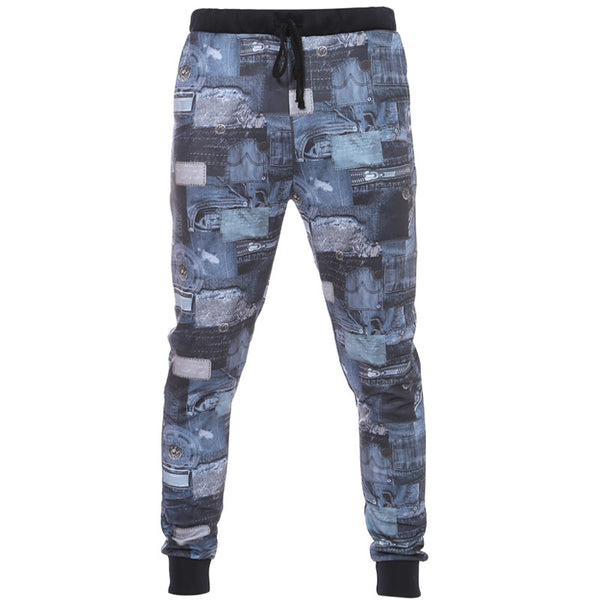 Men's Printed Trousers Casual Sports Feet Pants