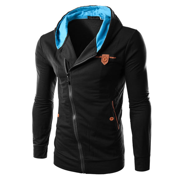 Side Zipper Hoodies Men