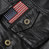 New Fashion Mens Pu Leather Jacket