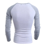 Hit the Color Men's Slim Long-sleeved T-shirt