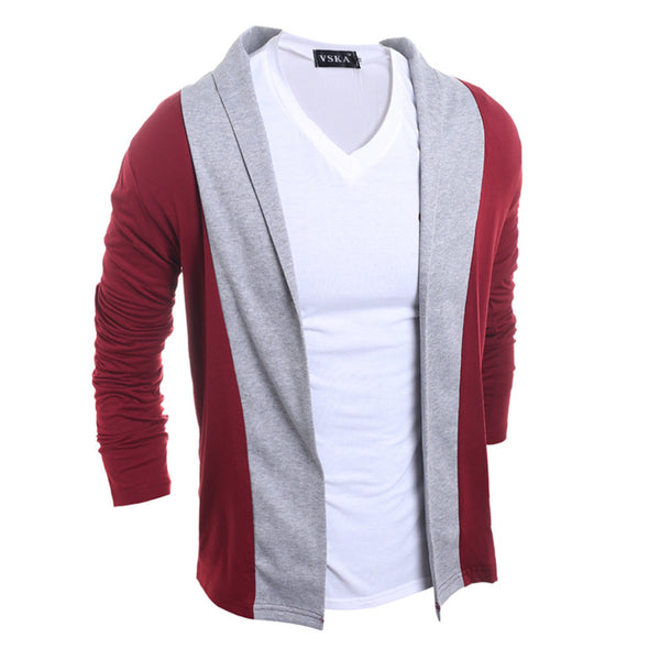 Mixed Colors Casual Long-sleeved Cardigan Sweater