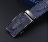 Belts - Crocodile Automatic Buckle Faux Leather Men's Belts