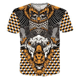 ANIMAL PRINTED 3D T-SHIRTS