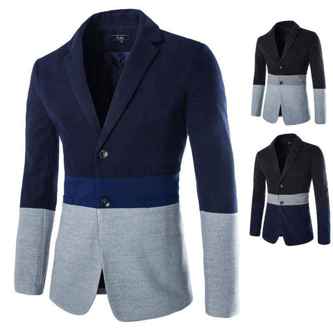 Blazers - Casual Patchwork Blazer (Exclusive Deal)