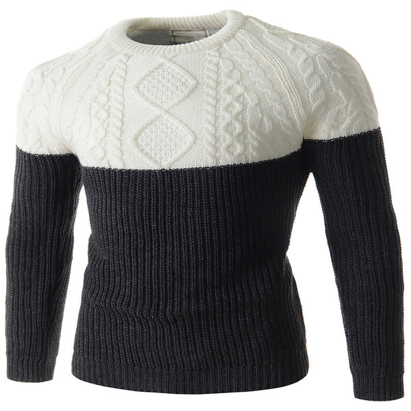 Men's Color Matching Sweater