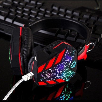Headset - Cool Black Red Headset