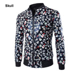 Jacket - Floral Print Leather Jacket