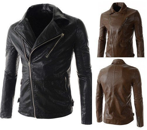 Jacket - Lapel Collar Quality Leather Jacket