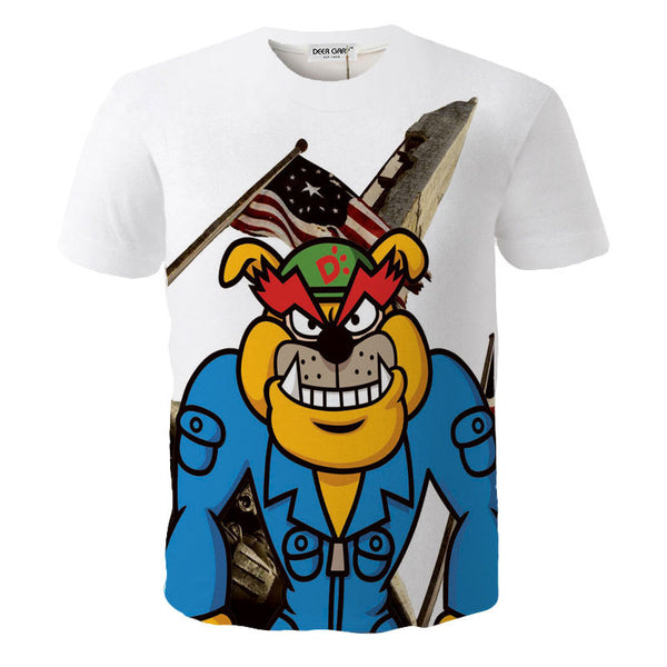 CARTOON PRINTING 3D T-SHIRTS