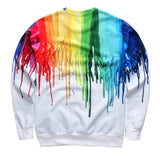 Colorful Painting 3D Print Hoodies