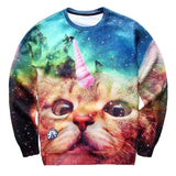 Cat 3D Print Hoodies Men