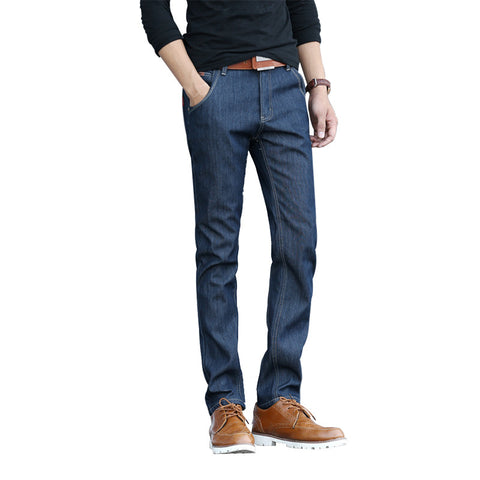 Autumn Winter Thickened Jeans