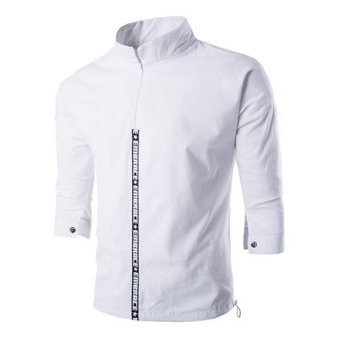 Men 's Cotton Half Sleeve Casual Jacket