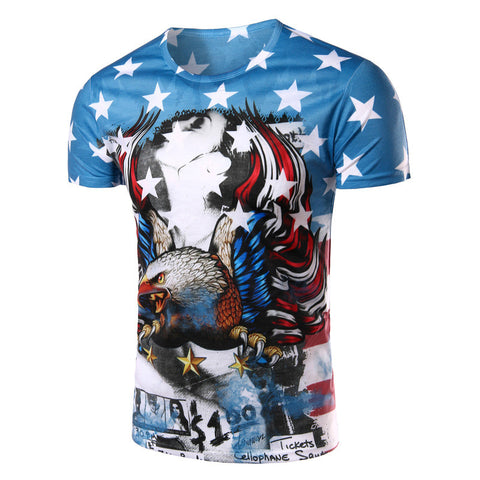 Eagle Printed 3D T-Shirt