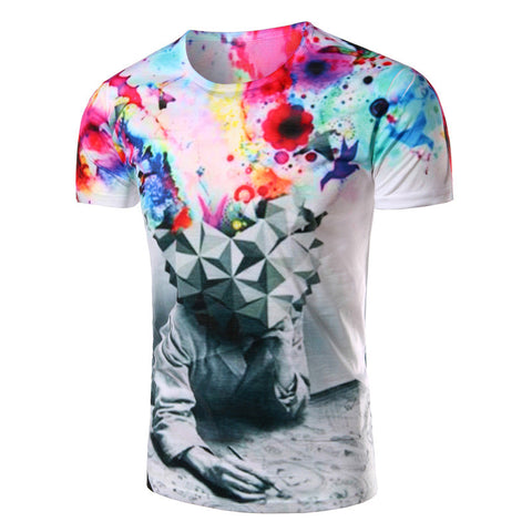 Men's Slim Short-sleeved T-shirt