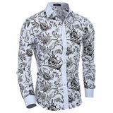 Hot Sale Long-sleeve Floral Shirts
