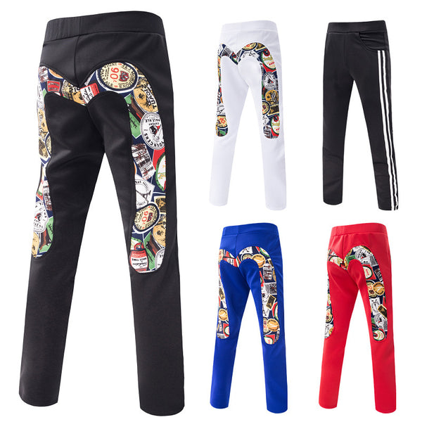 Men's Buttock Printed Sports Pants