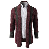 NEW FASHION STITCHING KNIT CARDIGAN