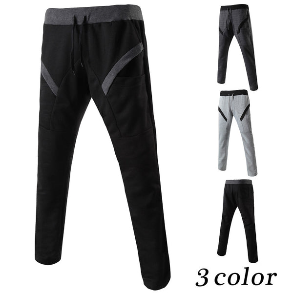 Casual Ribbed Stitching Pants