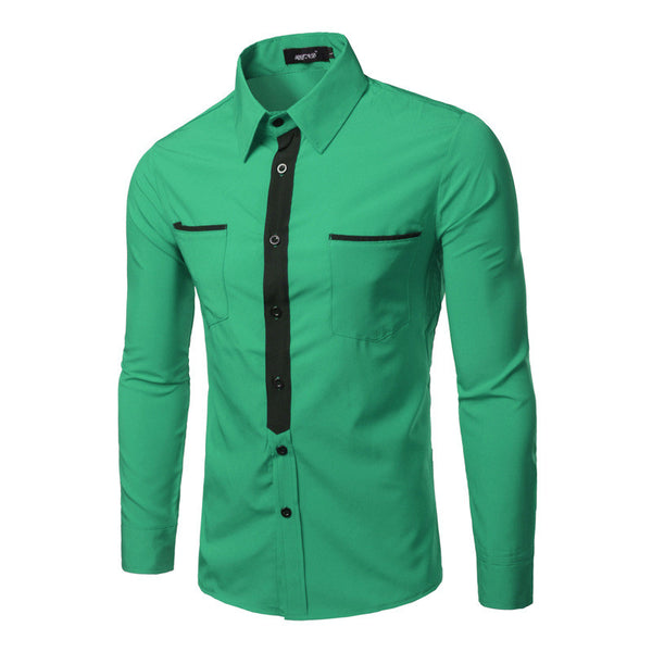 MEN'S LONG SLEEVE POCKET DESIGN SHIRTS