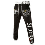 LETTERS PRINTED LEISURE TROUSERS
