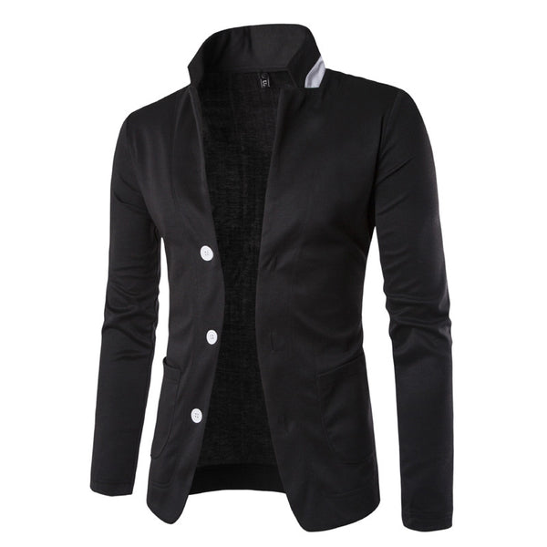 FASHION STAND COLLAR BLAZER