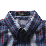 Men's Casual Long-sleeved Plaid Shirt