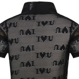 Mesh Design Fake Two Short-sleeved Printing T-shirt