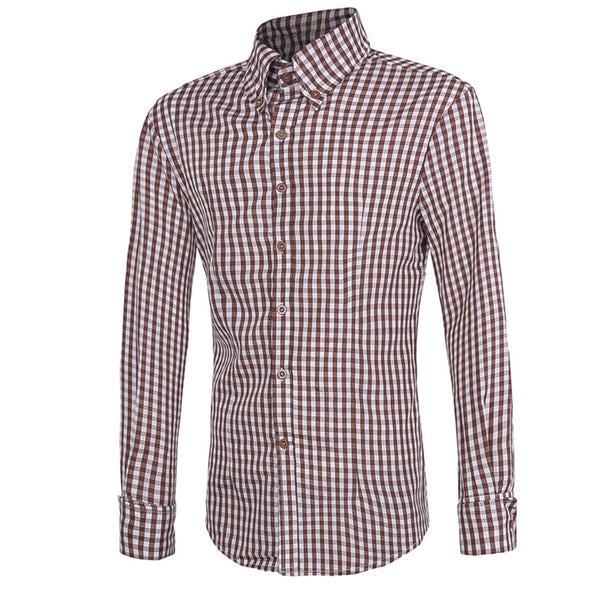 New Style Plaid Long-sleeved Shirt