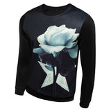 O-Neck Flower Print Hoodies