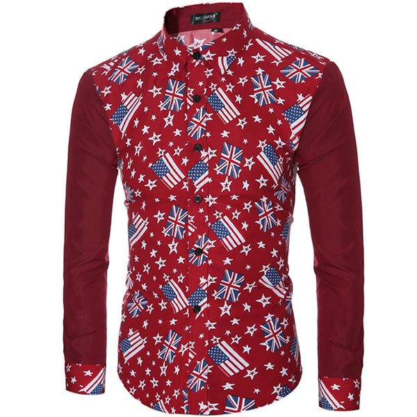 Flag Design Men's Leisure Shirts