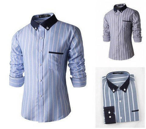 Shirts - Contracted Style Long Sleeve Shirt