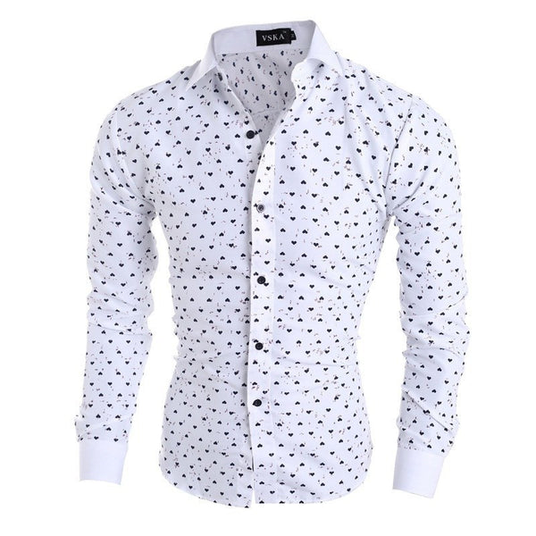 Shirts - Fashion Classic Print Shirts Men