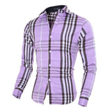 Shirts - Fashion Plaid Shirts Men