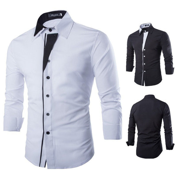 Shirts - Men's Long Sleeve Slim Shirt