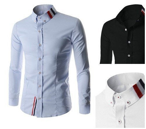 Shirts - Ribbon Detailed Slim Shirt