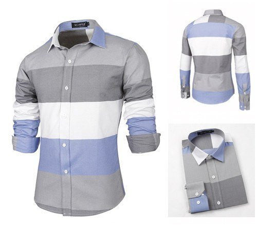 Shirts - Spring Patchwork Cotton Shirt