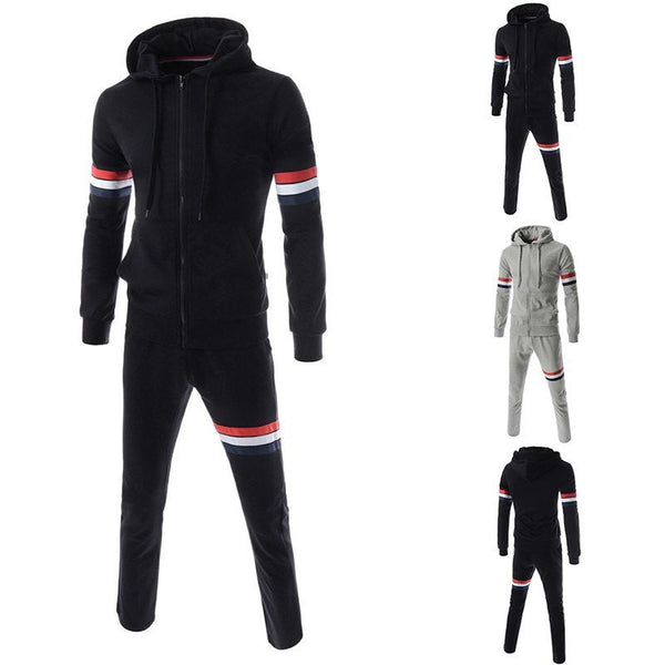 Sports Suits - Patchwork Sleeve Sports Suits