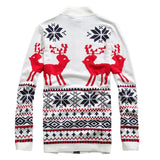 Sweater - Deer Printing Zipper Sweater