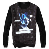 Sweater - Men's Patchwork Print Sweater