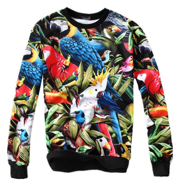 Sweatshirts - Birds 3D Sweatshirts