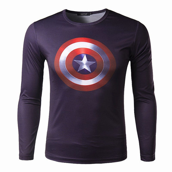 T-Shirt - Long Sleeve 3D T-Shirt