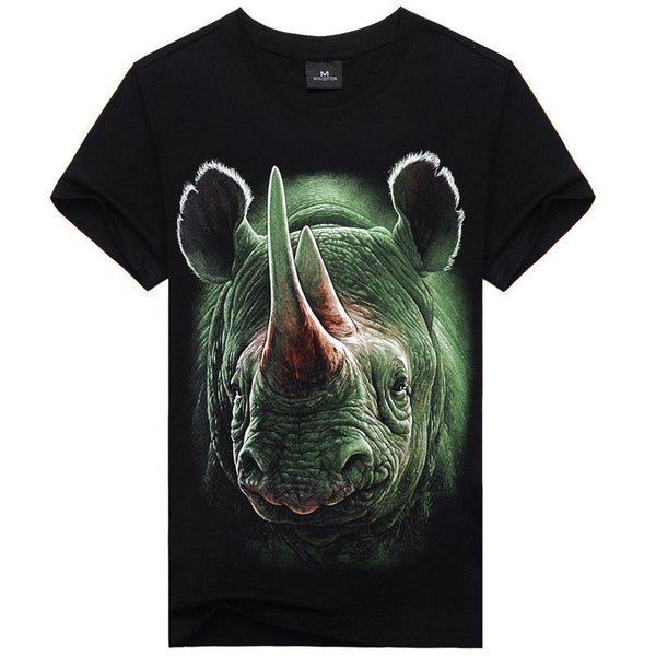 T-Shirt - Rhinoceros Printed T-Shirts