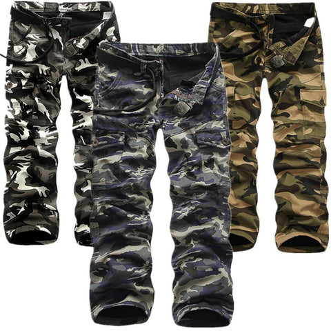 Trousers - Add Velvet Camouflage Pants