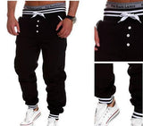 Trousers - Sporty Pants With Buttons